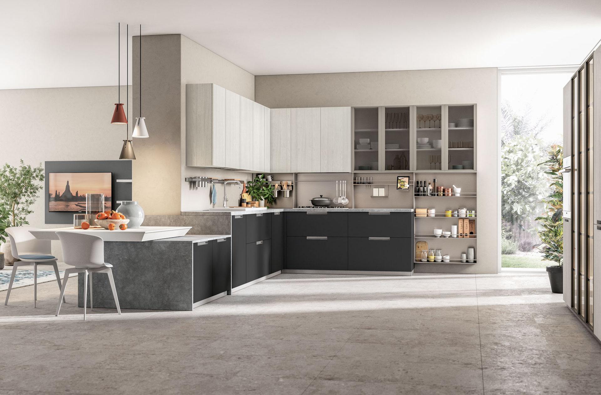 Come Arredare Il Vostro Ambiente Con La Cucina Ad Angolo Lube E Creo Store Lecco Vendita Cucine Lube E Creo